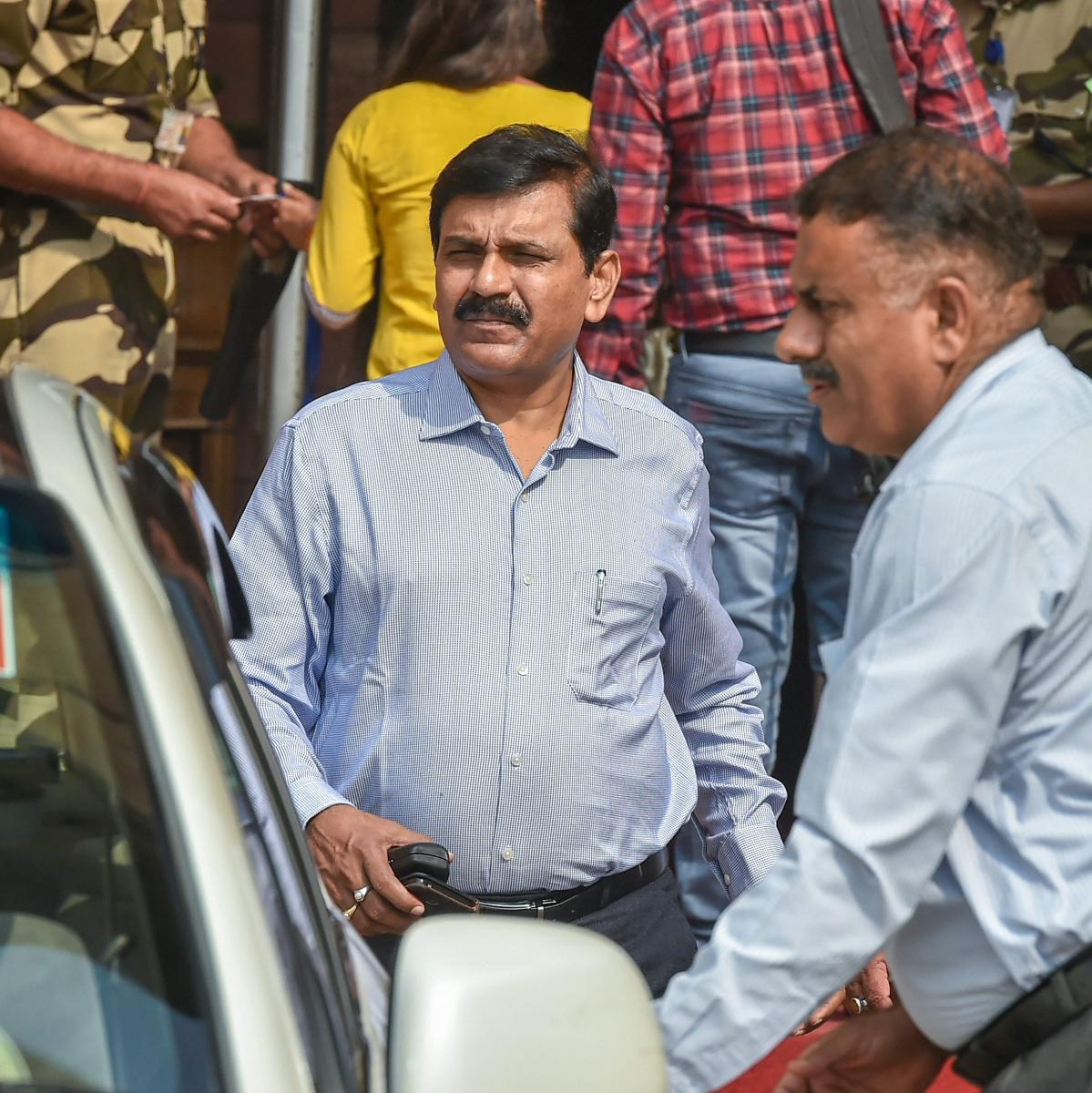 Interim director of the CBI M Nageswara Rao seen at Home Minister's office, in New Delhi, Thursday, Oct 25, 2018. The 1986 batch Odisha cadre IPS officer Rao, has been made interim director of the Central Bureau of Investigation (CBI) and is known for his
