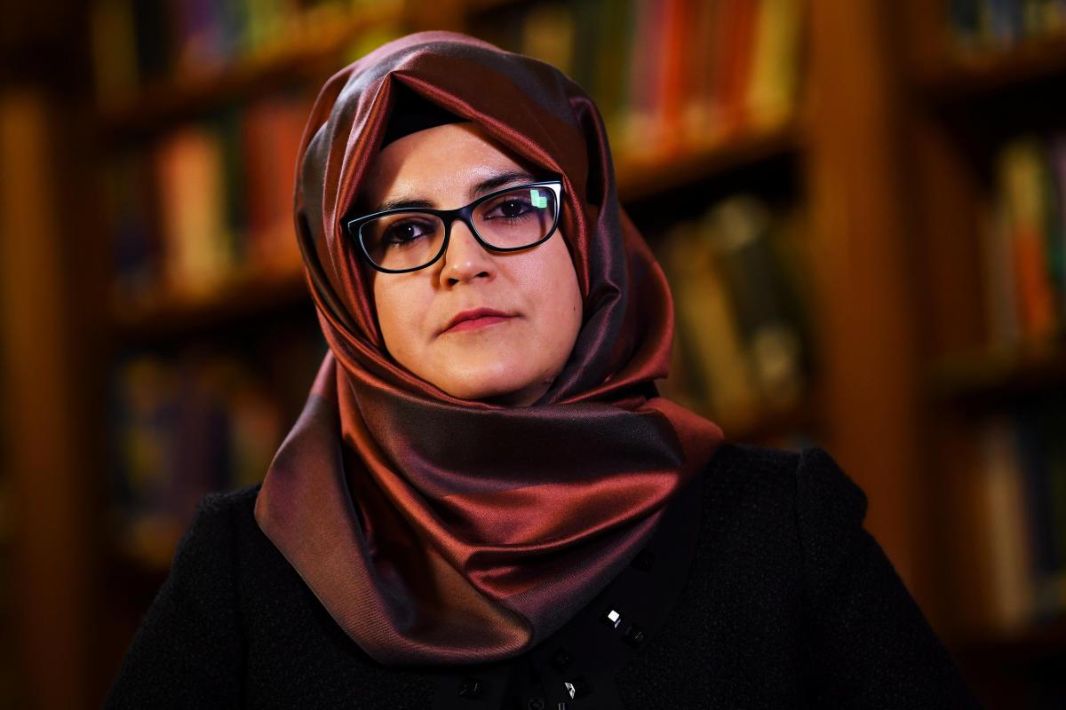 Hatice Cengiz, fiancee of slain Saudi journalist Jamal Khashoggi, is seen during an interview with Reuters in London, Britain, October 29, 2018. REUTERS