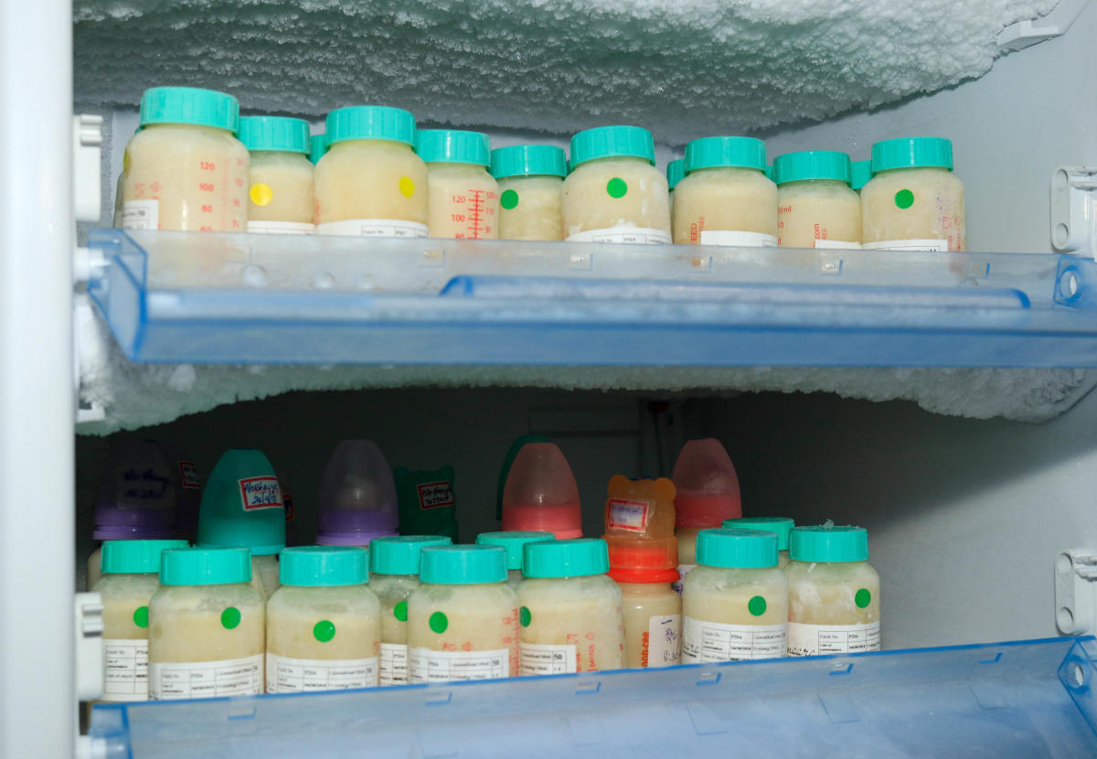 Breast milk stored at the Breast Milk Foundation– Amaara at Fortis La Femme hospital, Bengaluru. DH photo