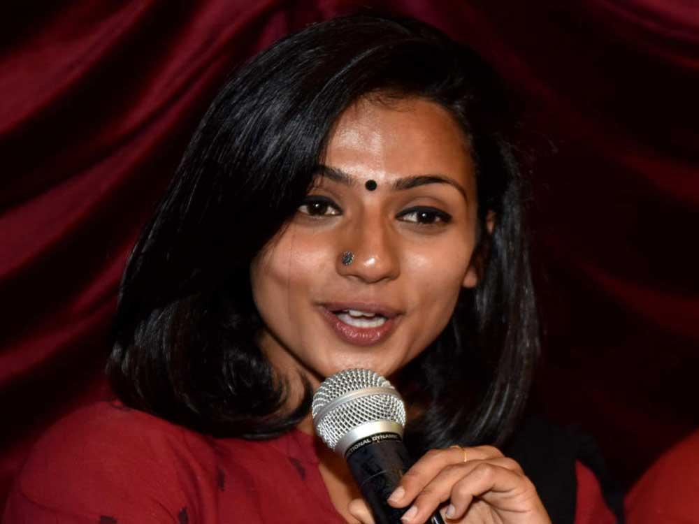Sandalwood actress Shruthi Hariharan. DH photo