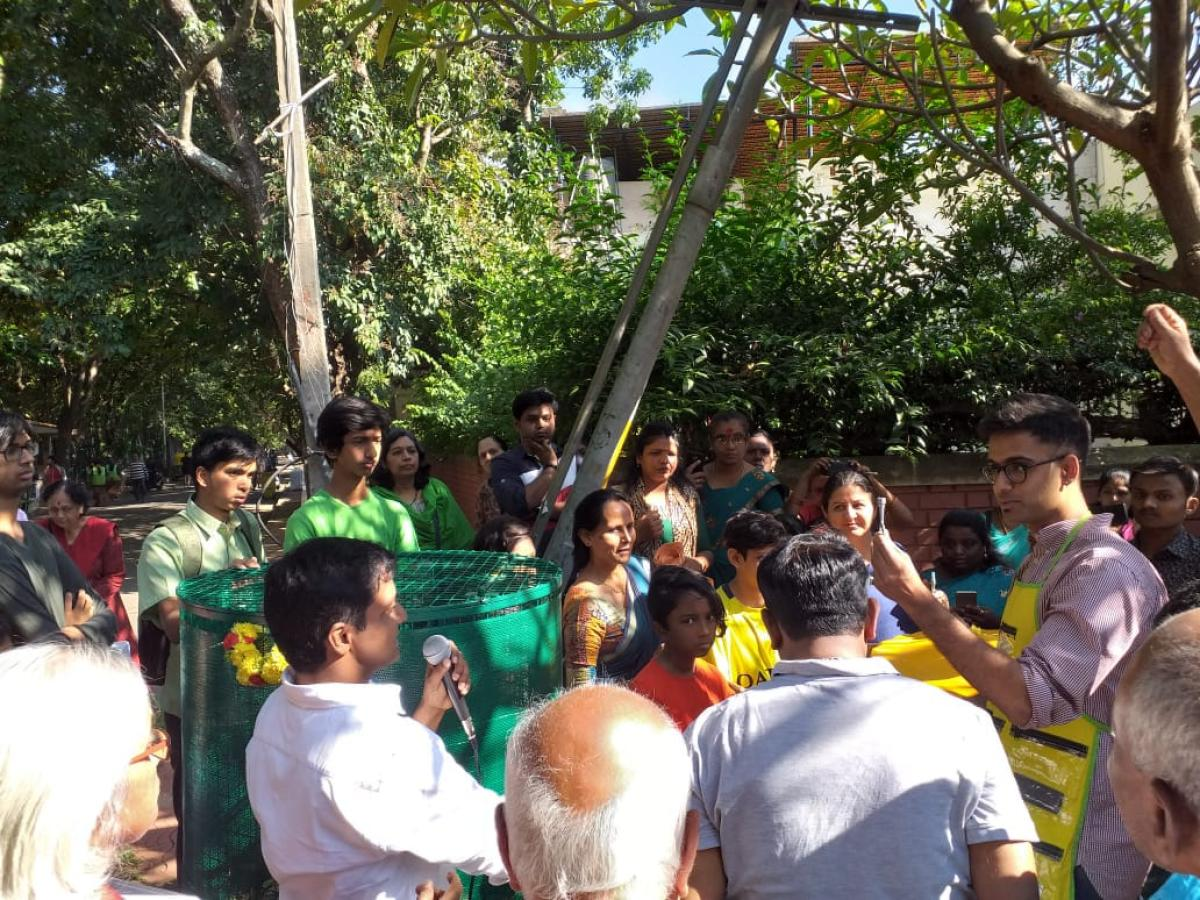 Close to 200 people took part in the inaugural event on Saturday 24 and learned about the techniques of composting.