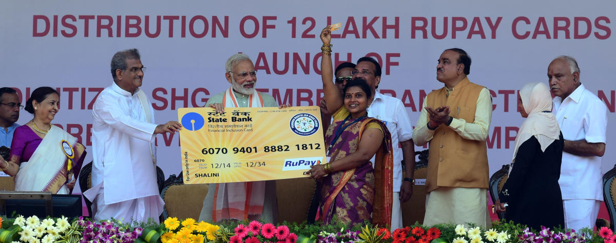 """Modi has in recent years backed India's homegrown payments network """"RuPay"""", whose rise has broken the dominance of U.S. payment giants such as Mastercard and Visa. (DH File Photo)"""