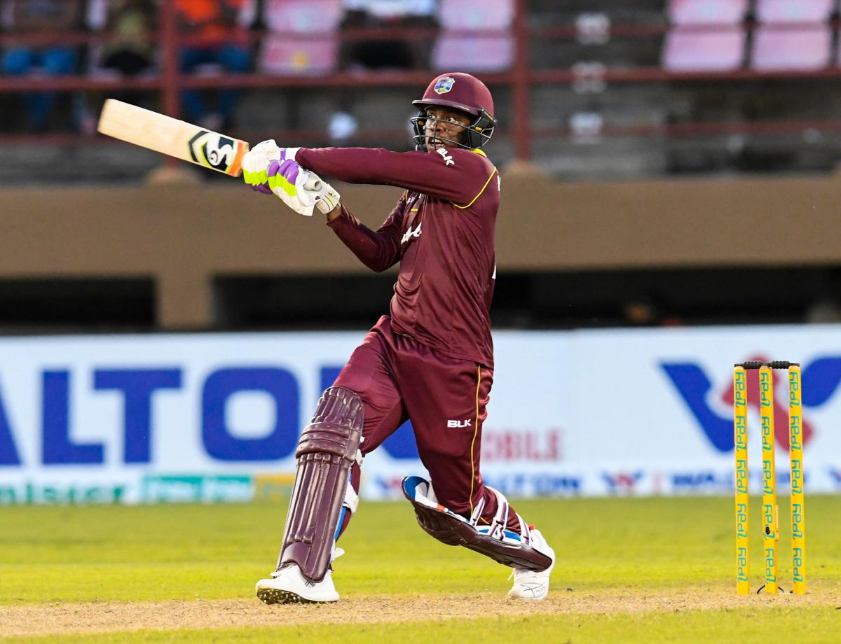 West Indies player Shimron Hetmyer plays a shot. (AFP file photo)