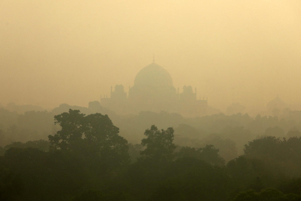 Humayun's Tomb is seen shrouded in smog in New Delhi. (Reuters File Photo)