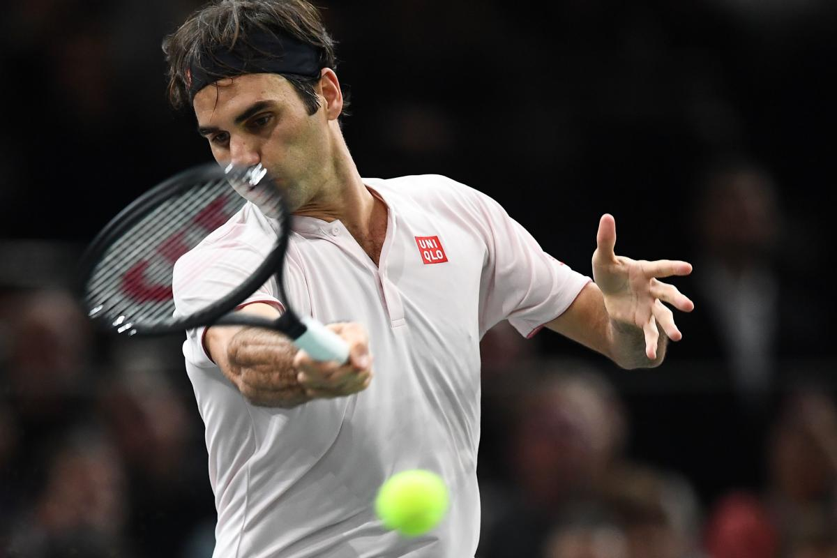 CLASSY: Switzerland's Roger Federer during his win over Italy's Fabio Fognini. AFP