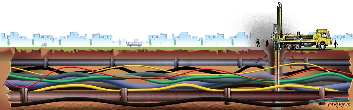 Under ground Cable_illustration