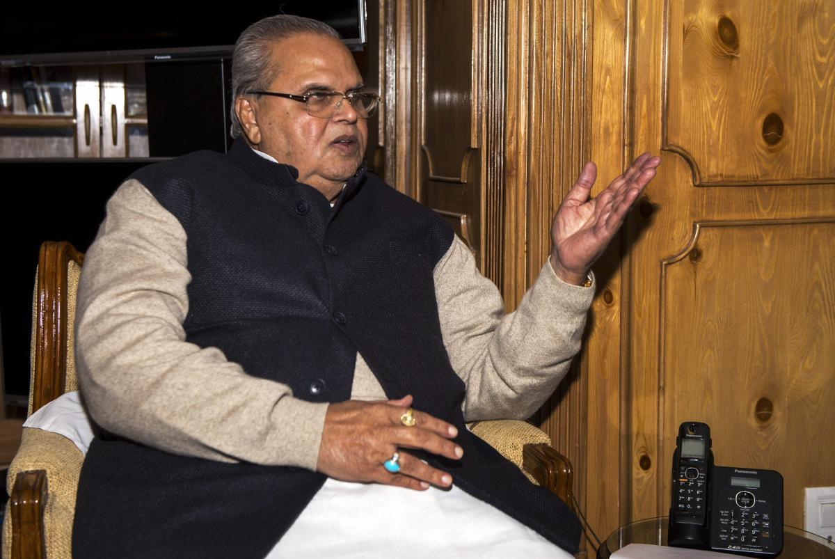Jammu and Kashmir Governor Satya Pal Malik. (PTI File Photo)