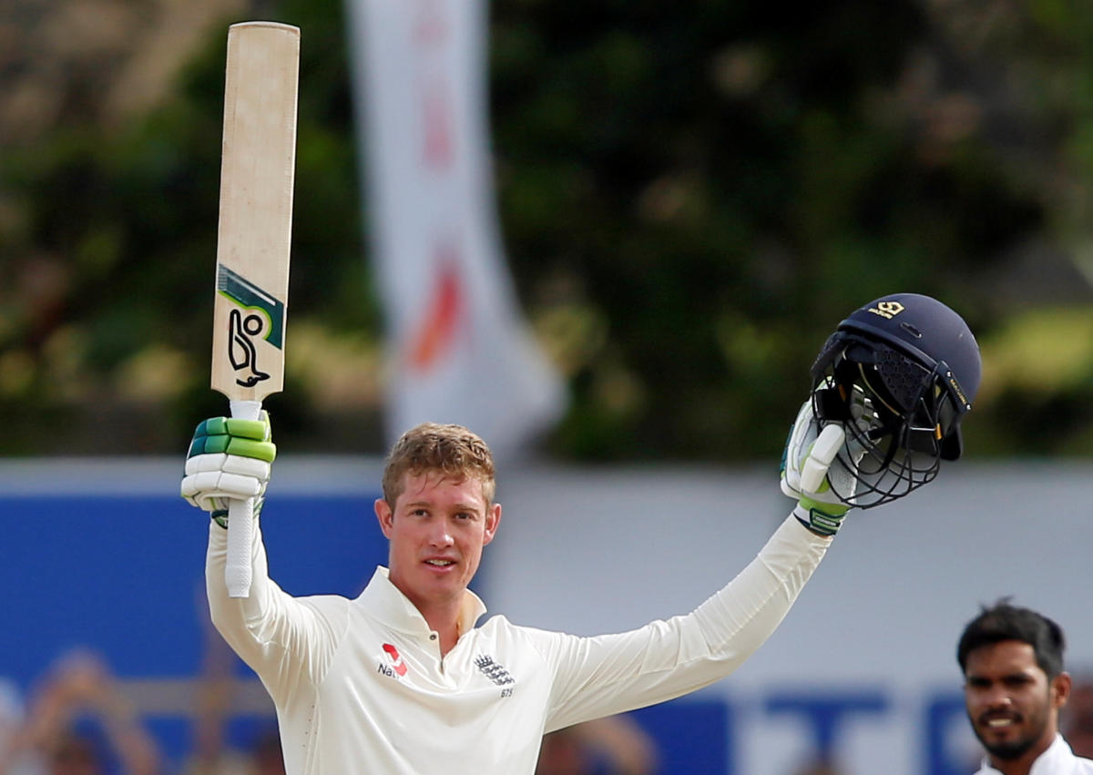 STAMPING HIS CLASS England's Keaton Jennings celebrates his century against Sri Lanka on the third day of the first Test in Galle on Thursday. REUTERS