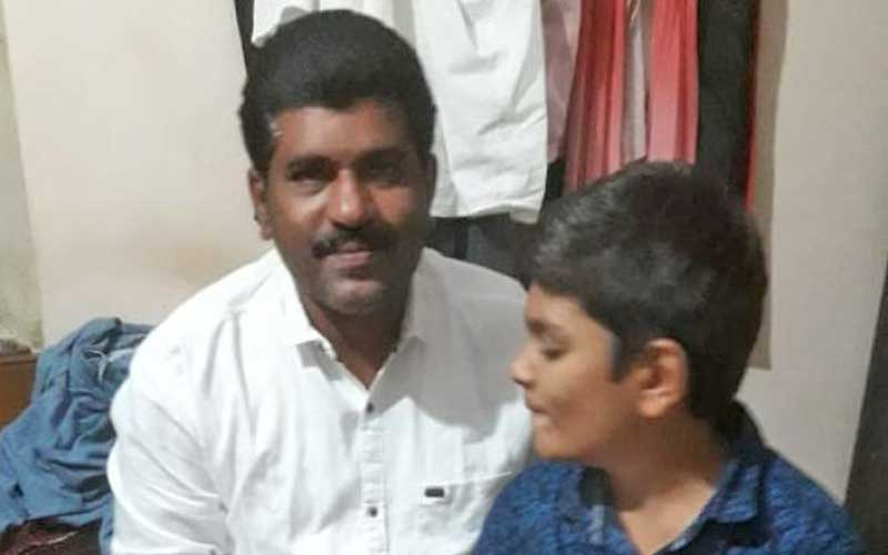 Brahmananda Reddy with his son Mouna Sai Reddy