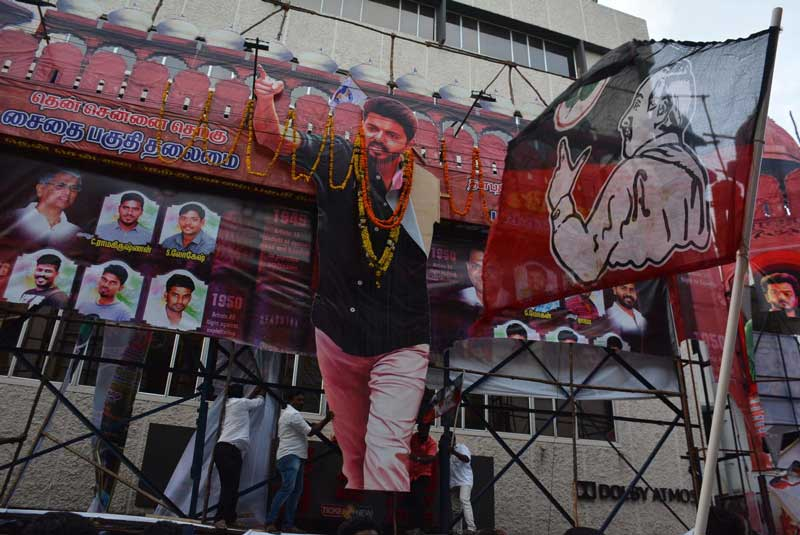 The re-censored movie was screened in theatres across Tamil Nadu from the matinee show, theatre owners said. (DH Photo)