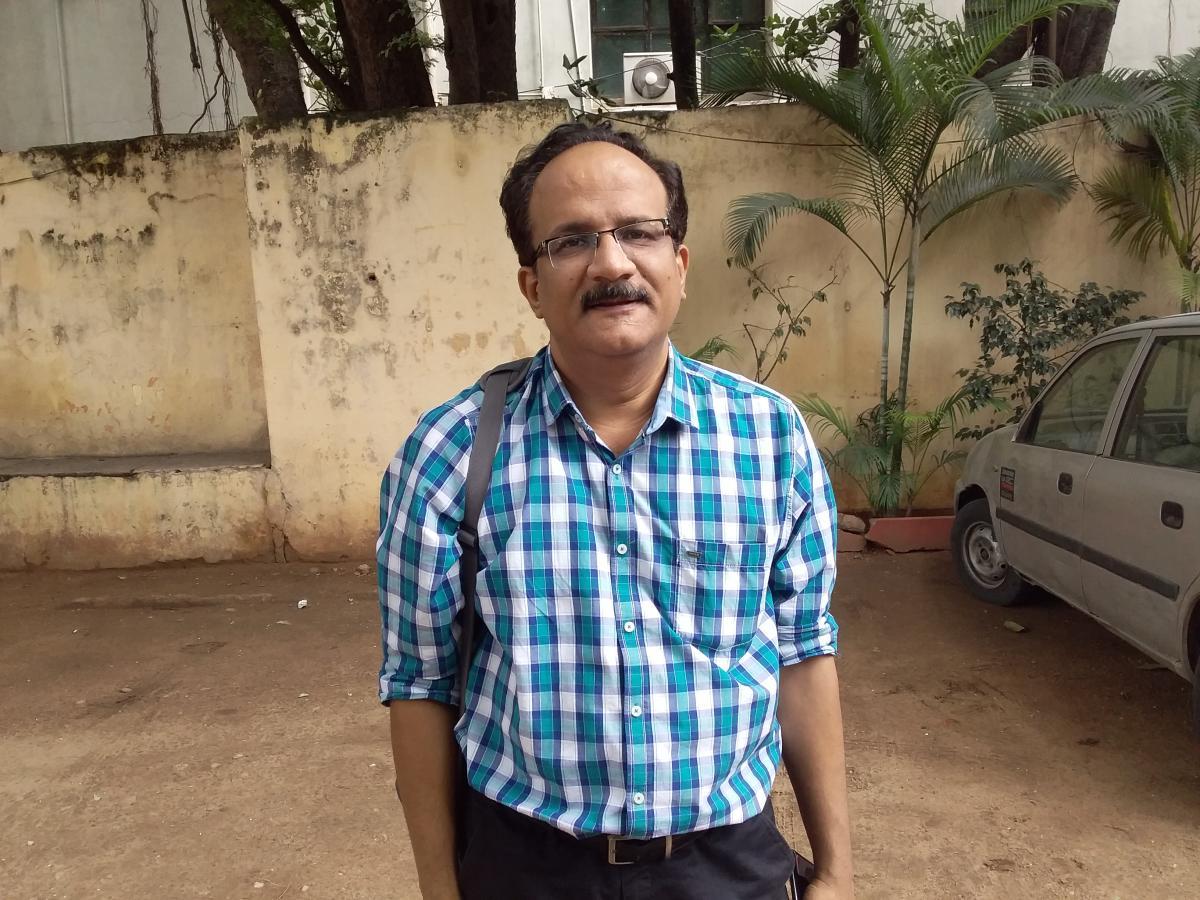 Senior Journalist Kurmanath, at the Hyderabad Press Club. DH Photo