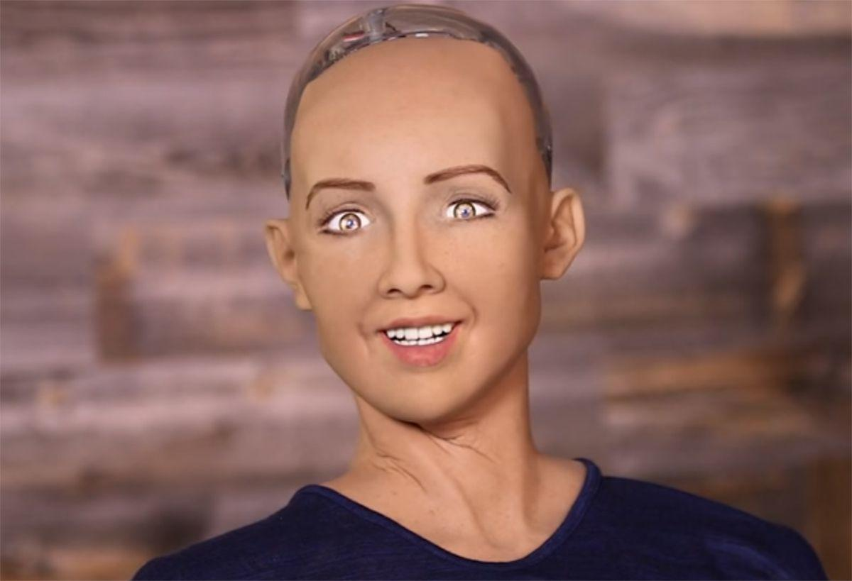 Sophia, the first humanoid robot, will interact with experts in financial technologies, regulators, investors and IT professionals during her maiden appearance at the event. (File Photo)