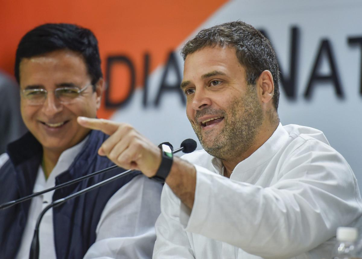 Congress president Rahul Gandhi on Friday sent out a tweet asking his nearly eight million followers to join him on Facebook Live. PTI file photo