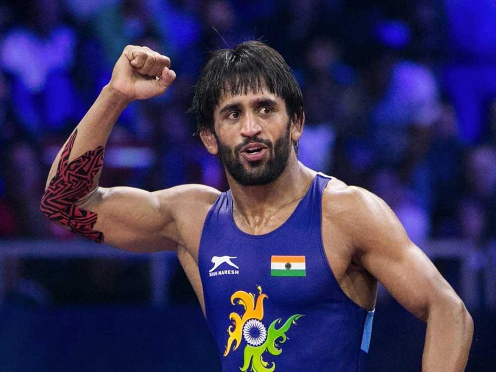 Star Indian wrestler Bajrang Punia. PTI file photo