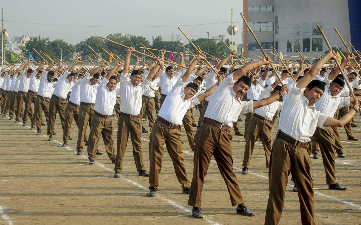 RSS shakhas refer to the office of the RSS workers used for regular meetings, activities, and exercises. Representative image, PTI Photo.