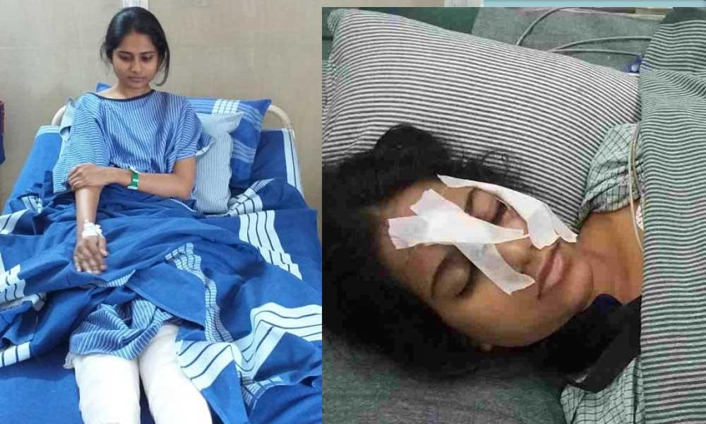 Falaq Patel recovers, an injured Tanushree.