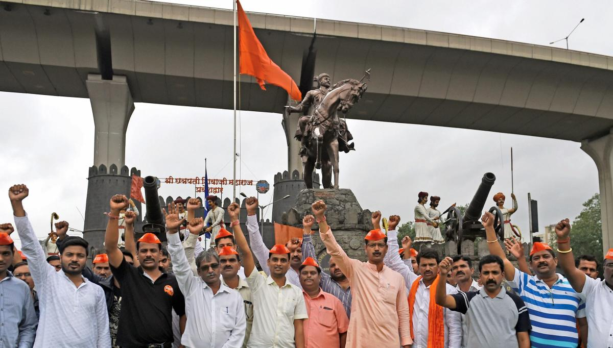 Maratha Kranti morcha activists protest in favour of Maratha reservations. PTI ( file photo)