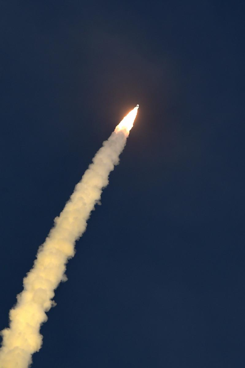 Isro's GSLV-MkIII D2 mission carrying high throughput communication satellite GSAT-29 takes off from Satish Dhawan Space Centre, in Sriharikota, on Wednesday. PTI