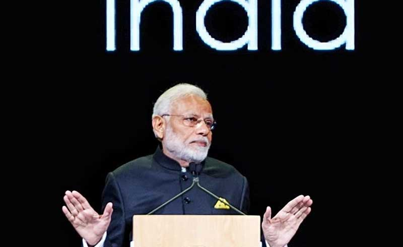 Modi became the first world leader to address the festival which was launched in 2016 and is in its third edition. (Image source: Twitter/PIB)