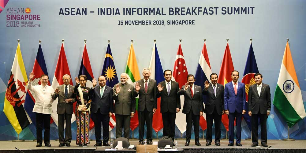 """""""Had a great interaction with ASEAN leaders at the ASEAN-India Informal Breakfast Summit. We are happy that ties with ASEAN are strong and are contributing to a peaceful and prosperous planet,"""" Modi said in a tweet. (Twitter/narendramodi))"""