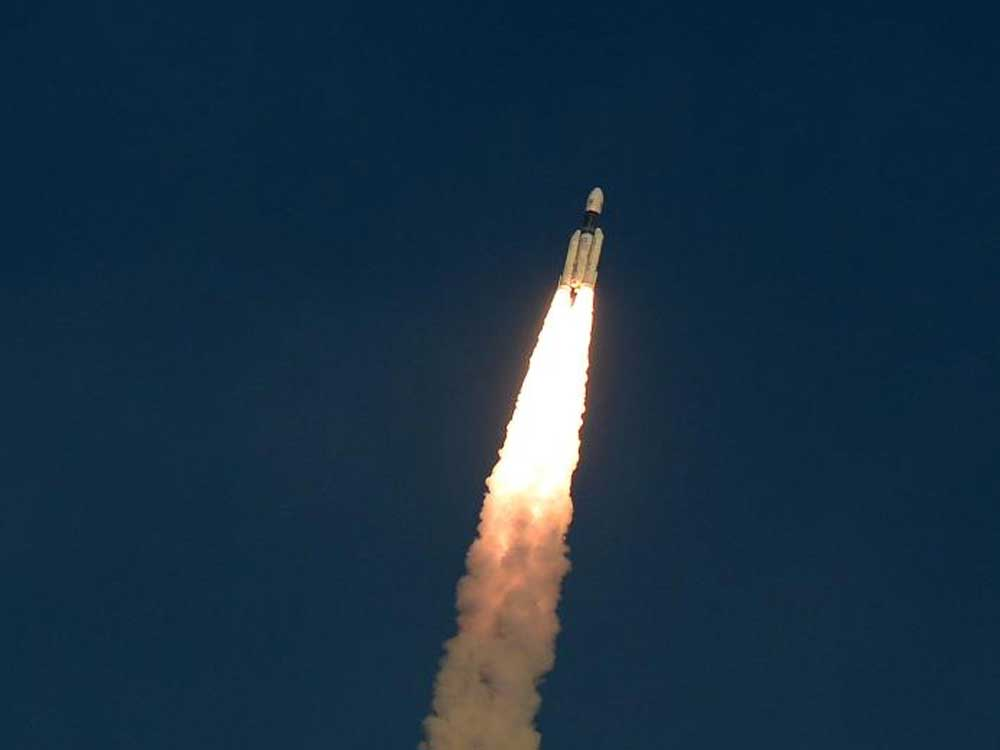 The ISRO's communication Satellite GSAT-29, on board the Geosynchronous Satellite Launch Vehicle (GSLV-mark III-D2), launches in Sriharikota in the Indian state of Andhra Pradesh. AFP photo