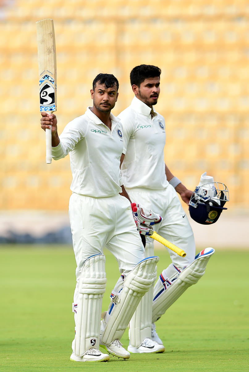 Mayank Agarwal hopes to cash in on his current rich vein of form. DH Photo