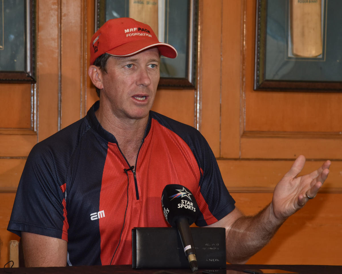 IN THE FAST LANE Former Australia paceman Glenn McGrath is impressed with young Indian pace crop. DH Photo/ S K Dinesh