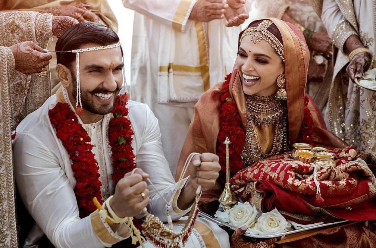 Official picture of the Ranveer Singh and Deepika Padukonewedding in Italy.
