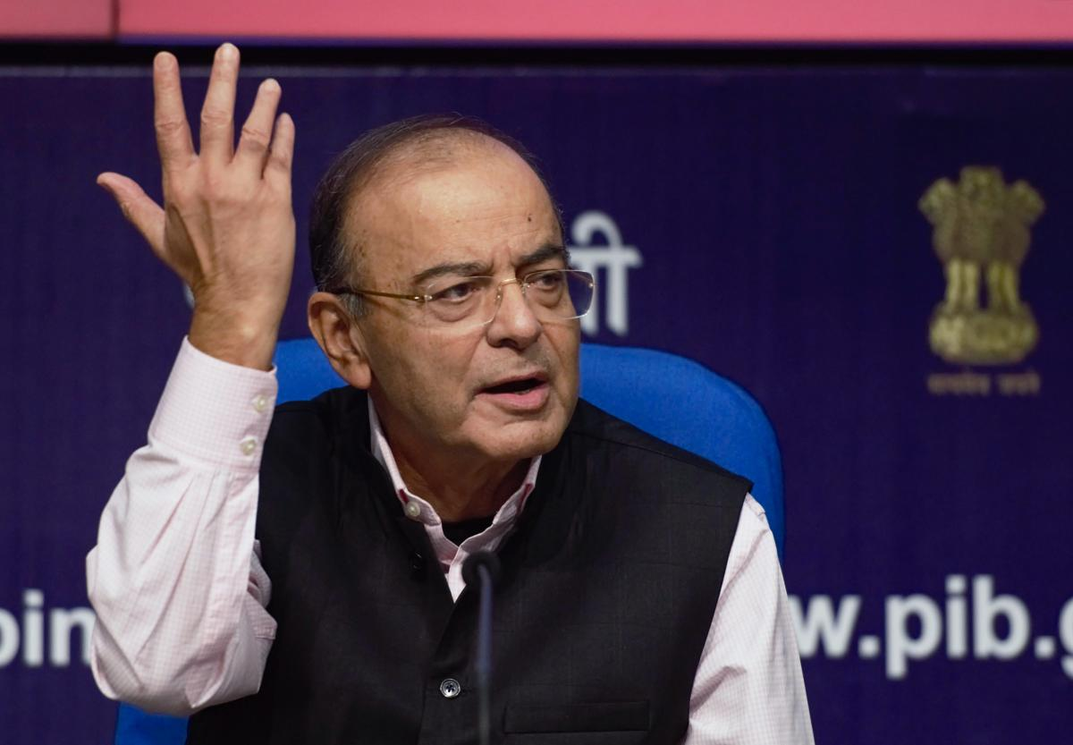 """""""It is only those who have a lot to hide will take the step of saying let the CBI not come to my state. There is no sovereignty of any state in the matter of corruption,"""" Jaitley said in response to a query. (PTI Photo)"""