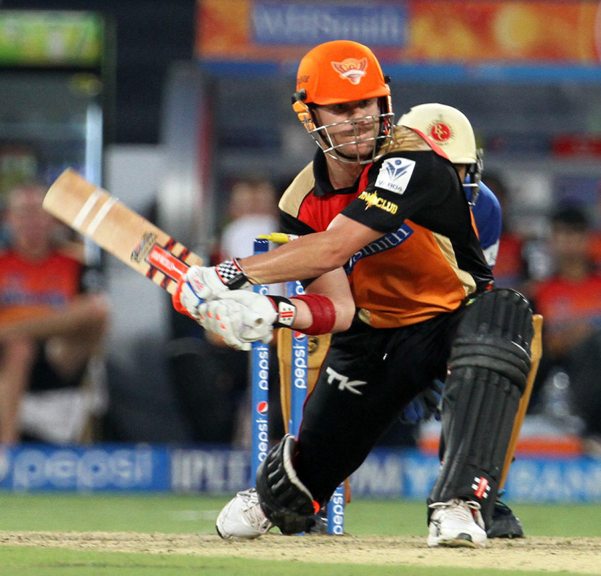 David Warner stretched the rules with his switch hit, a shot that found approval from the governing body.