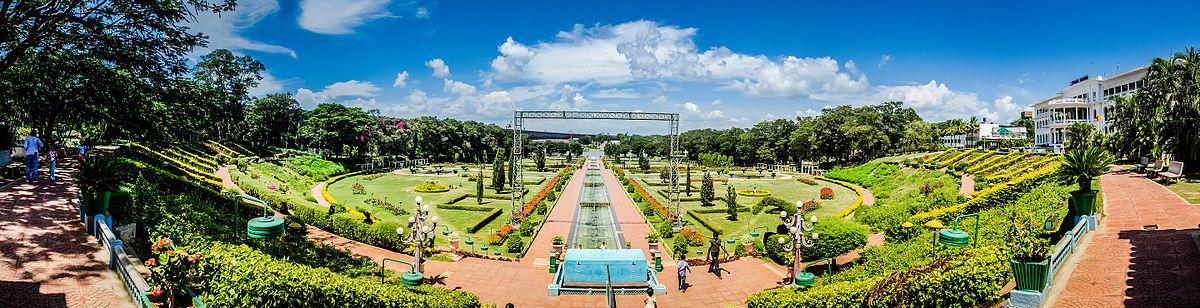 A view of the Brindavan Gardens, abutting the KRS dam, in Srirangapatna taluk, Mandya district.