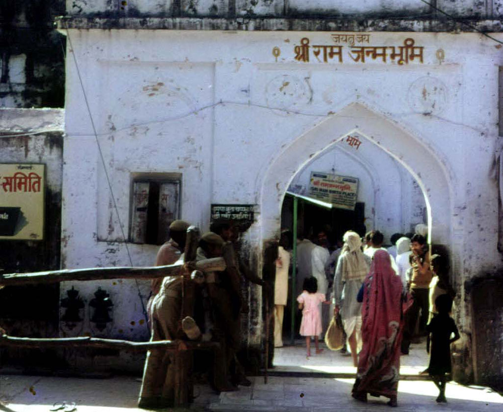 """""""As soon as a grand Ram temple is built in Ayodhya, it will restore the glorious history of Ayodhya. Subsequently, lakhs of tourists will visit the place and it will eventually give a boost to tourism in the temple town,"""" the state religious affairs, culture, minority welfare, Muslim Waqf and Haj minister said. (DH File Photo)"""