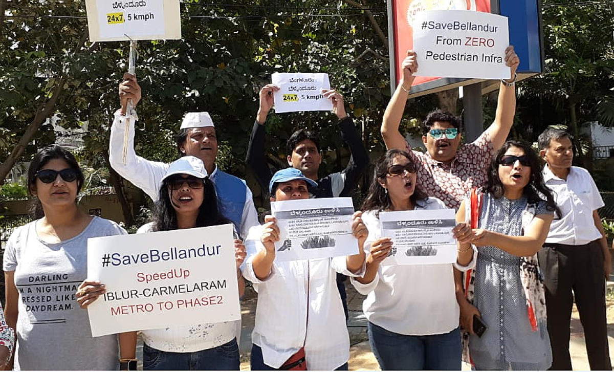 ACTION, REACTION: Repeated protests and the recent human chain demonstration by the residents of Bellandur haveprompted the mayor to order expediting some of the pending civic works.
