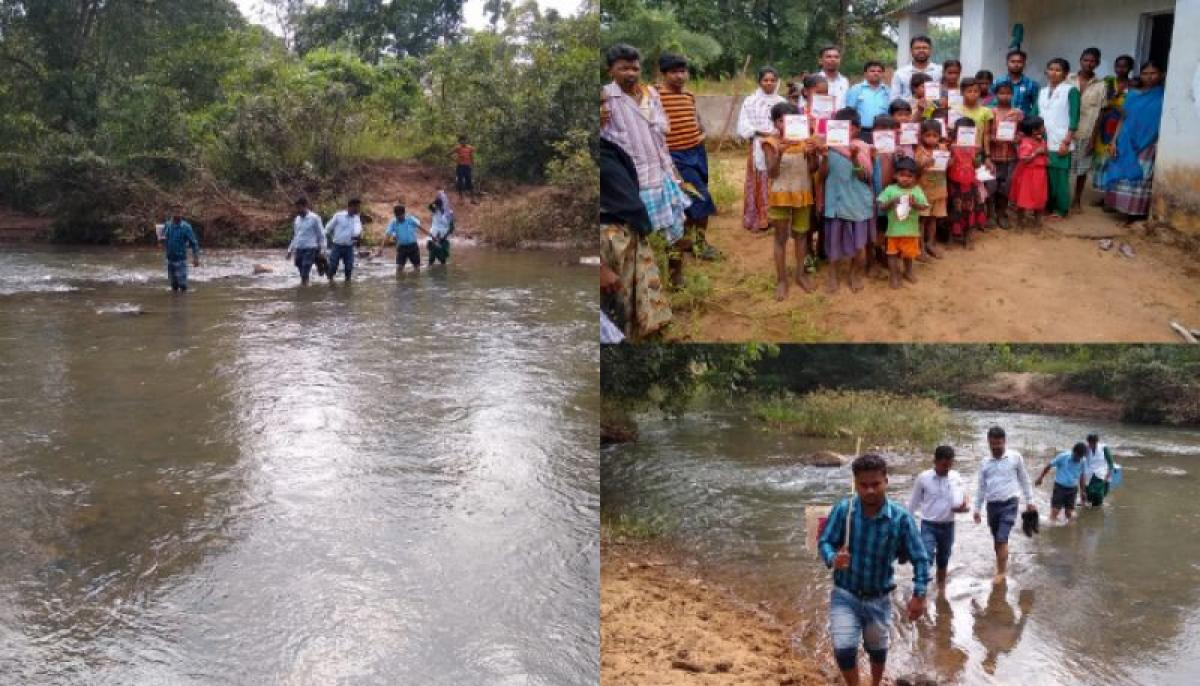 Sukma district's vaccination team travelled on foot to provide their service to remote villages in Chhattisgarh.