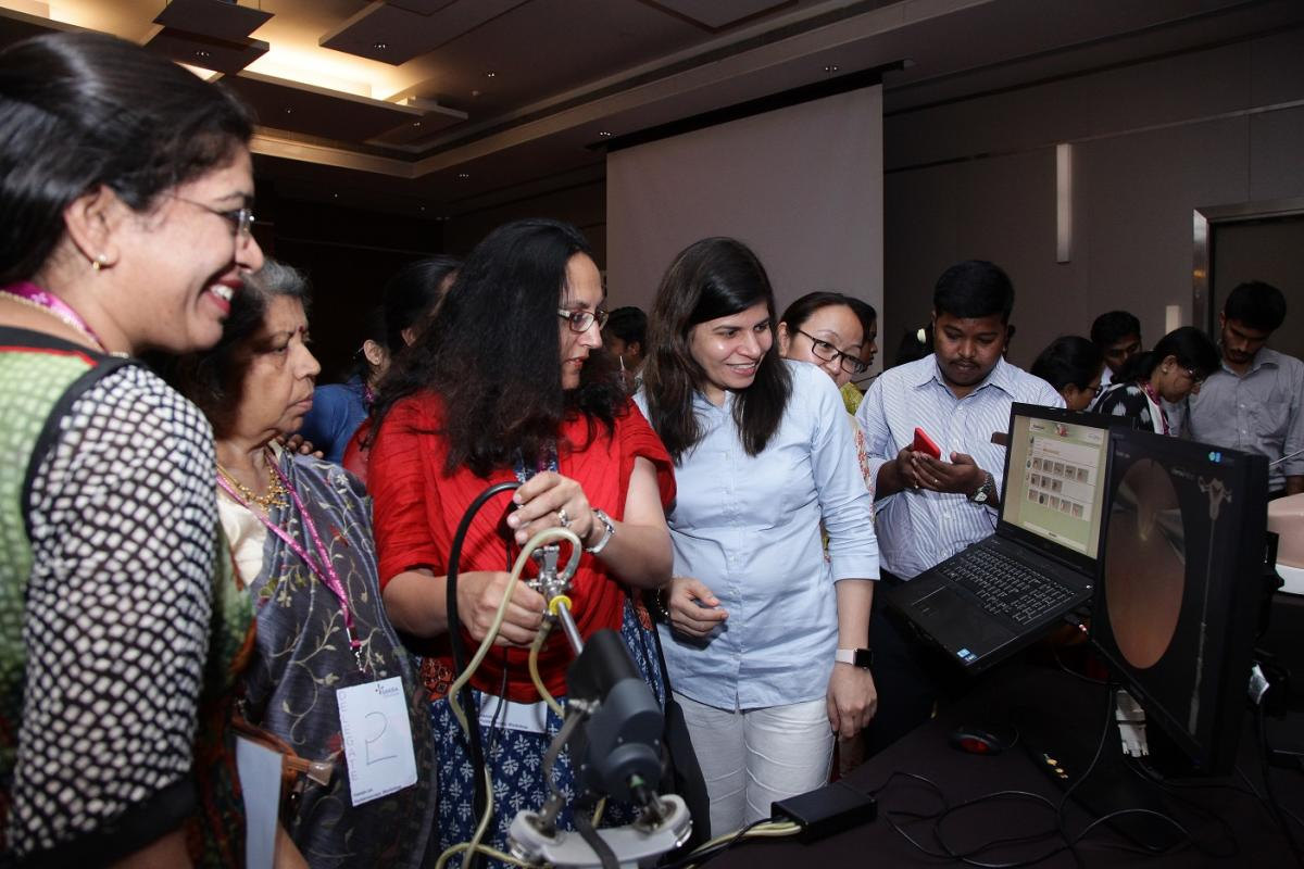 About 50 doctors attended the workshop on Sunday at Novotel Hotel, Marathahalli, to get hands-on training on hysteroscopy.