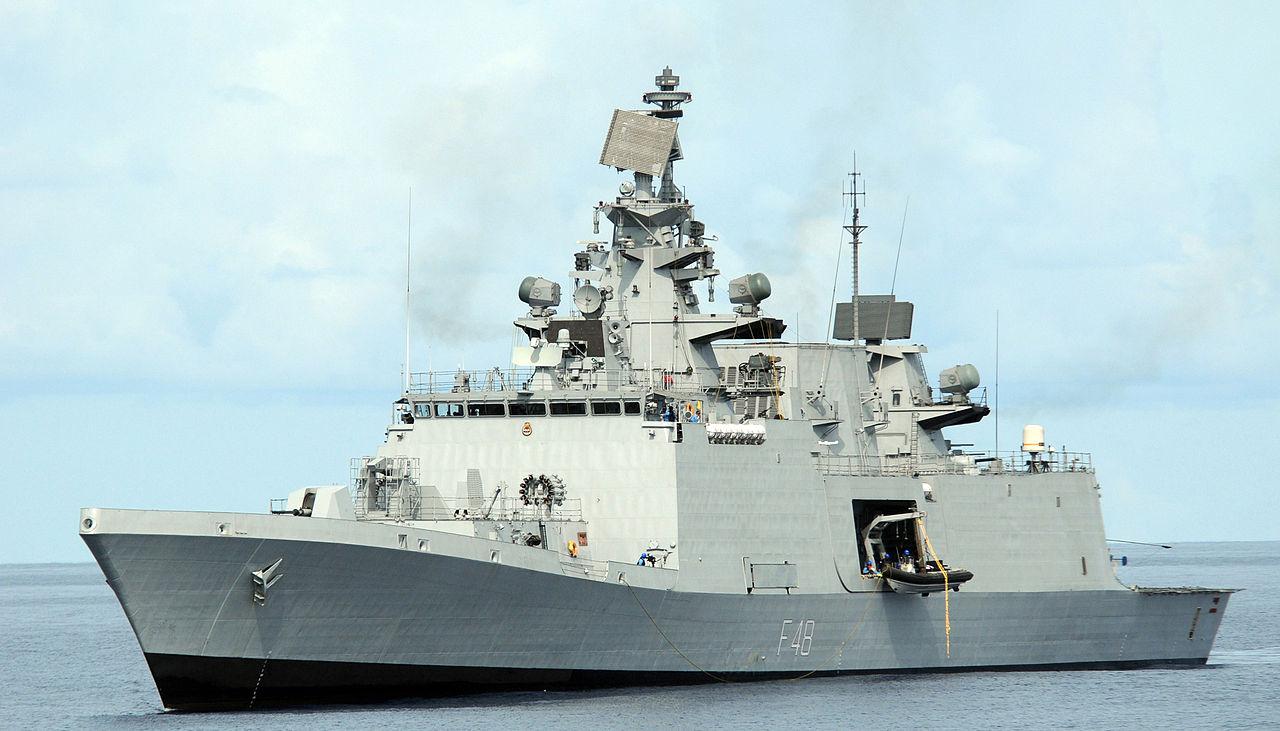 INS Satpura, a Shivalik-class frigate currently used by India. Wikipedia photo.