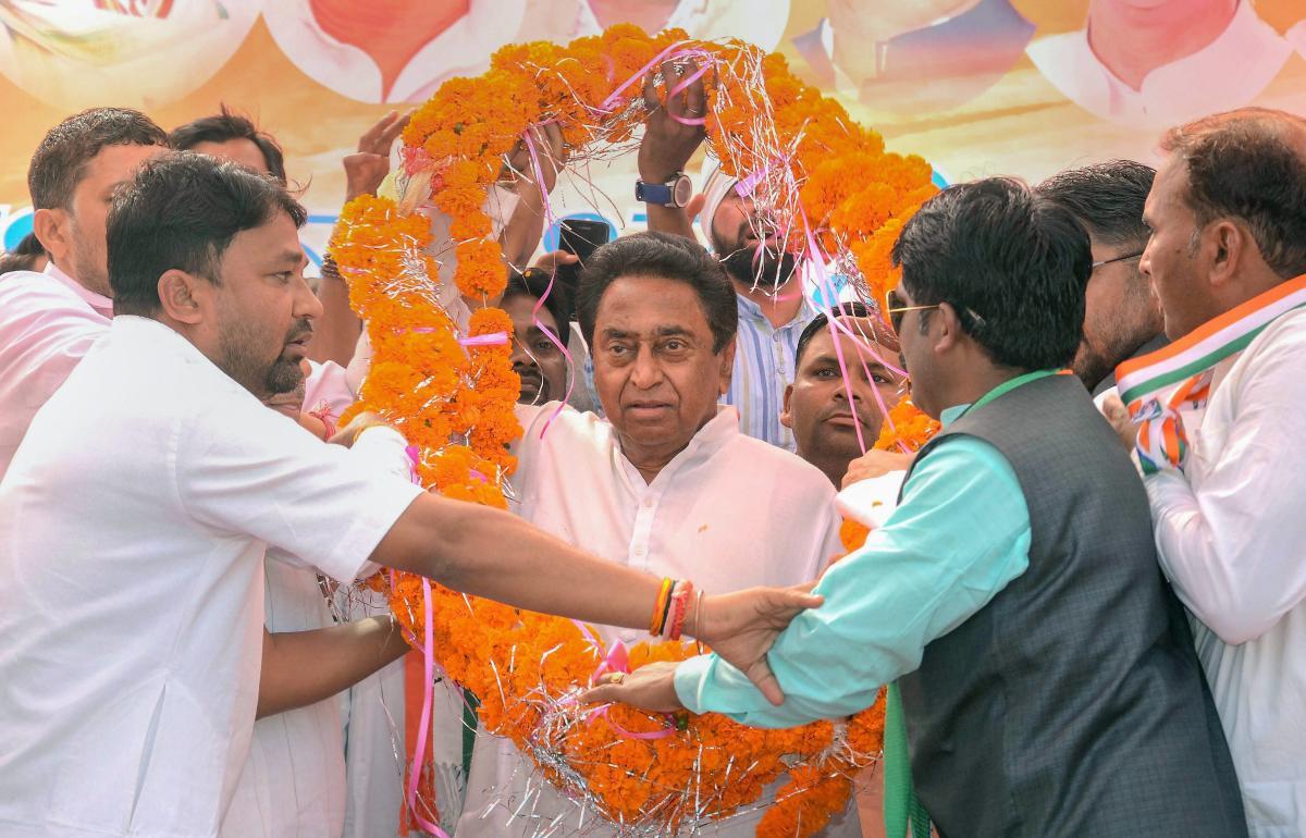 Madhya Pradesh Congress president Kamal Nath. (PTI Photo)