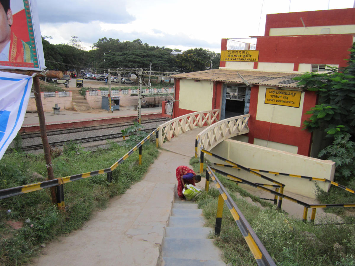 The much-anticipated project, whose revised estimate is pegged at Rs 116.01 crore, is expected to facilitate the smooth running of trains on Baiyappanahalli line.DH file photo