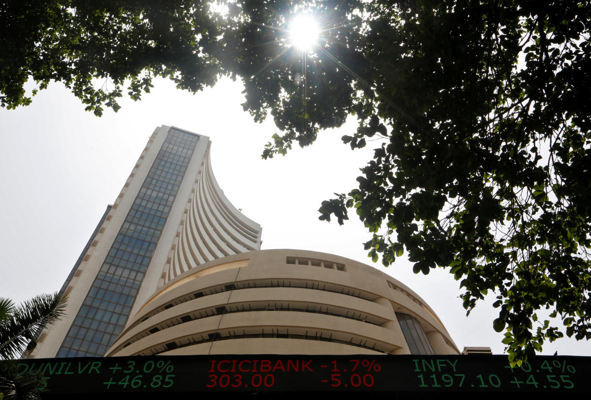 The 30-share was trading 215.44 points, or 0.61 per cent, lower at 35,259.07 points. The gauge had lost 300.37 points Tuesday. Reuters File Photo