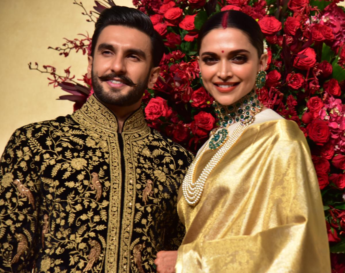 Deepeka Padukone and Ranveer singh Wedding Reception at Leelapalace in Bengaluru on Wednesday. DH photo