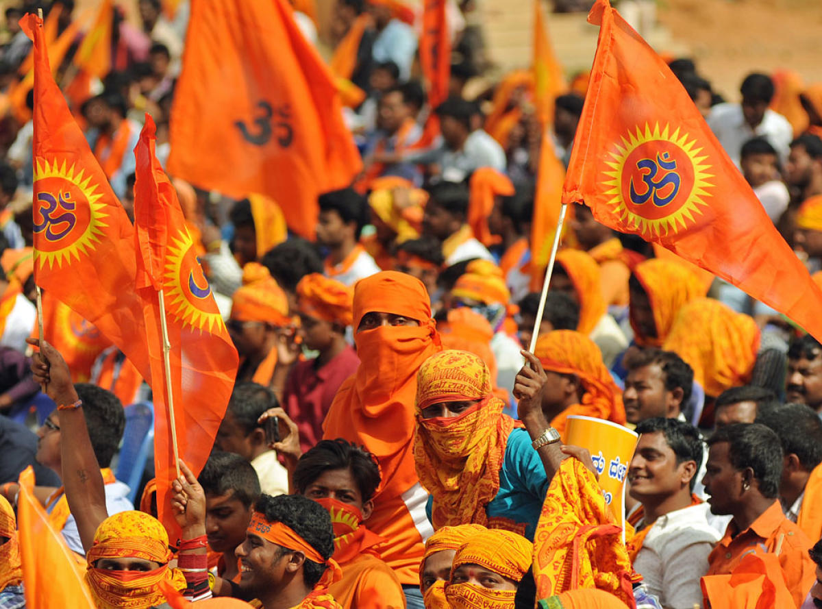 The VHP leader claimed that a large number of Hindus would be reaching Ayodhya to attend the 'dharm sabha' on Sunday. DH file photo