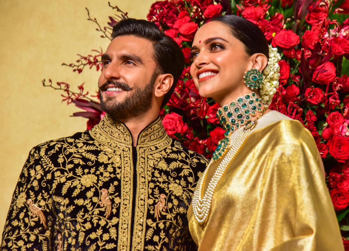 Bollywood actors Deepika Padukone and Ranveer singh Wedding Reception at Leela palce in Bengaluru on Wednesday. Photo/ S K Dinesh