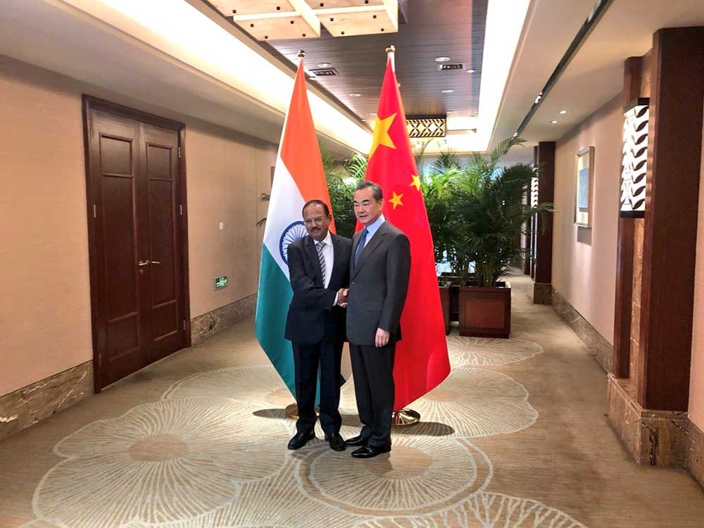 Besides the border dispute, the two senior officials would also review the progress made in bilateral ties since the Wuhan Summit between Prime Minister Narendra Modi and President Xi Jinping in April. (Image: Twitter)