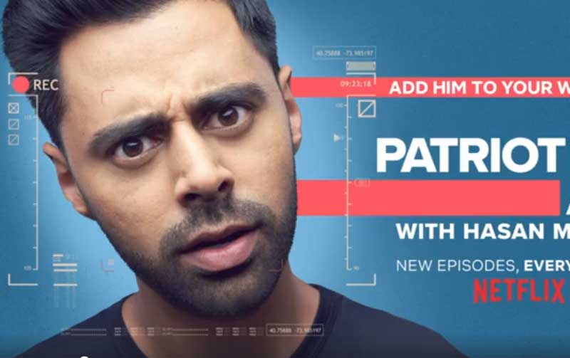 """Minhaj, 33, followed that high profile act with """"The Homecoming King"""" on Netflix, a huge hit that paved the way for """"The Patriot Act with Hasan Minhaj""""."""