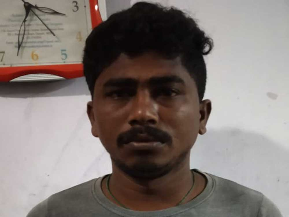 S Arjuna, who was hired recently to clear waste food from the hostel mess, allegedly masturbated before a second-year undergraduate student inside an elevator in the university campus on Thursday evening. Image courtesy Twitter