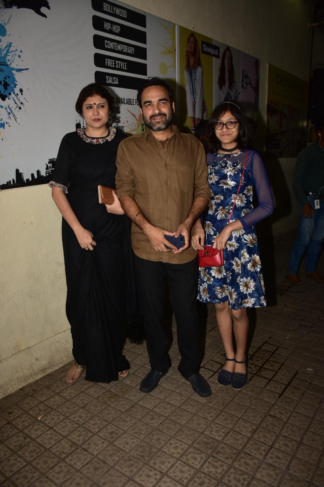 Pankaj Tripathi and family