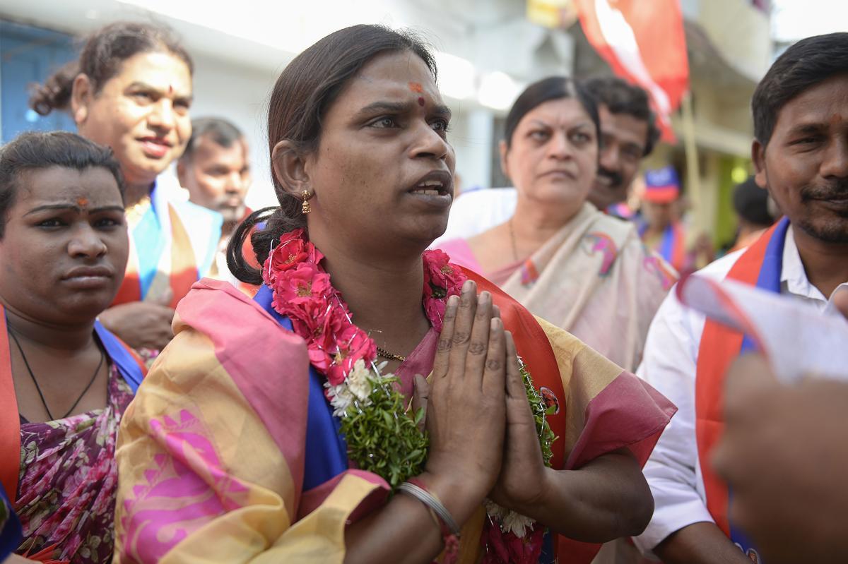 Transgender Chandramukhi Muvvala. AFP