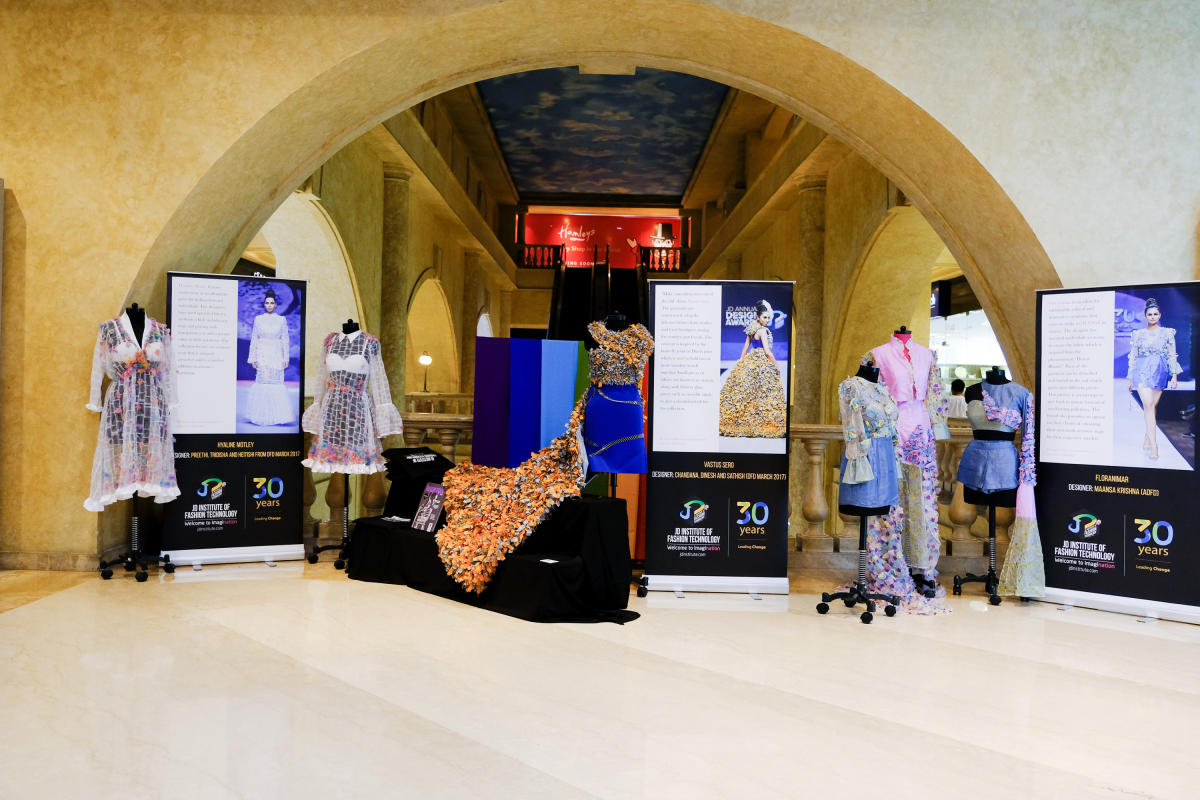 Collections by JD Institute of Fashion Technology had three themes at UB City.