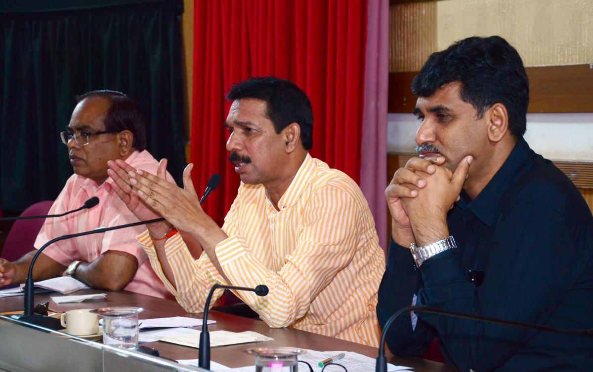 Dakshina Kannada MPNalin Kumar Kateel urges railways to be people-friendly at the railway greivance meeting organised at Netravathy hall in dakhsina kannada zilla panchaya premises on Wednesday.