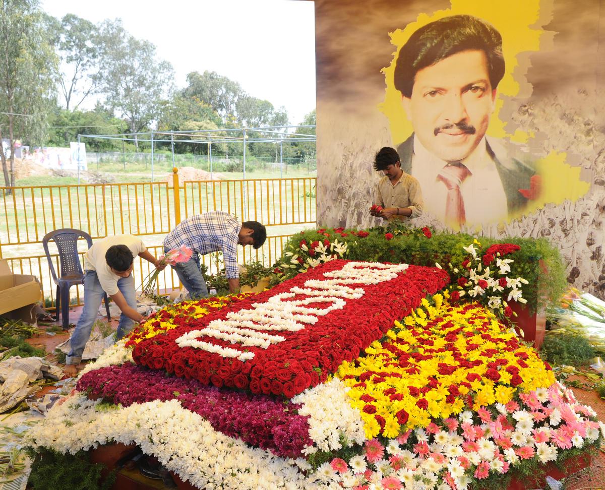Actor Vishnuvardhan's Samadhi in Bengaluru. DH FILE PHOTO